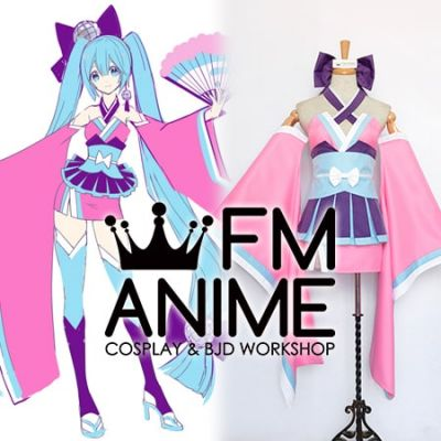 Vocaloid Hatsune Miku Ohedo Julia-Night Kimono Cosplay Costume
