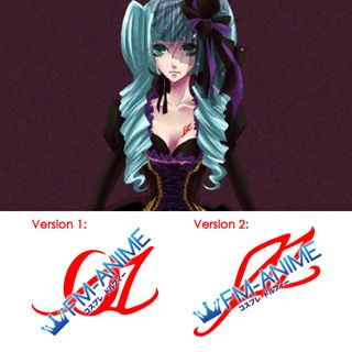 Vocaloid Hatsune Miku Sandplay Singing of the Dragon Cosplay Tattoo Stickers