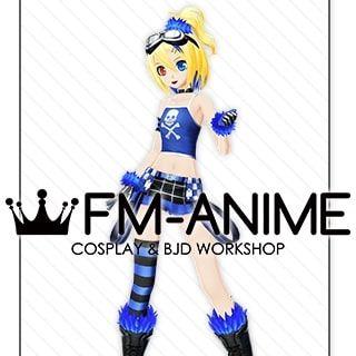 Vocaloid Kagamine Rin Burning Stone Lightning Stone Punk Cosplay Costume