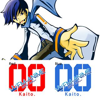 Vocaloid Kaito Cosplay Tattoo Stickers