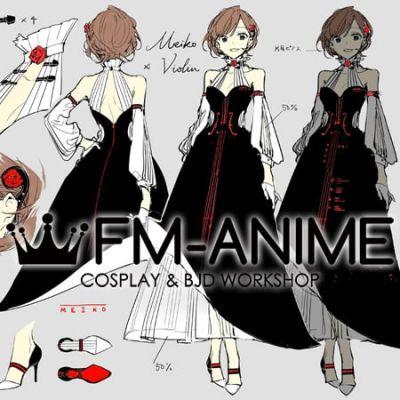 Vocaloid Meiko x Violin Miku symphony 2018 Dress Cosplay Costume
