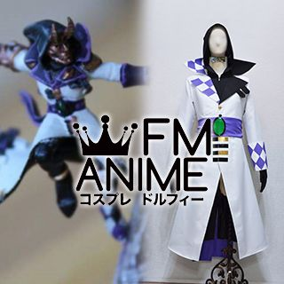 Warhammer 40k Harlequin Solitaire White Purple Cosplay Costume