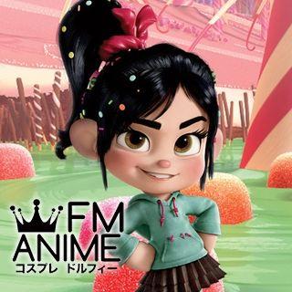 Wreck it Ralph Disney Vanellope von Schweetz Cosplay Wig