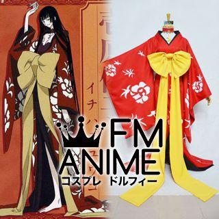 xxxHOLiC Yuko Ichihara Red Kimono Cosplay Costume