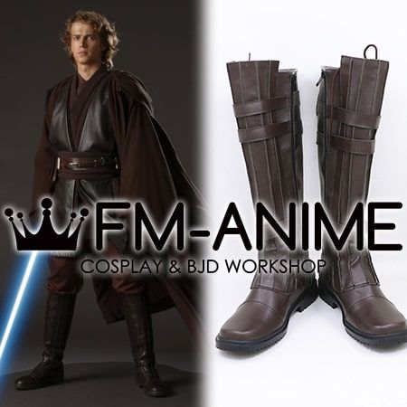 Mens Black Anakin Skywalker Darth Vader Star Wars Episode 3 Cosplay Boots 8 9 10