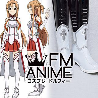 Sword Art Online Asuna Yuuki Cosplay Costume Boots Boot Shoes