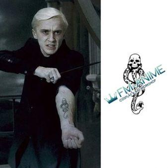 Harry Potter Draco Malfoy Dark Mark Cosplay Temporary Tattoo Stickers