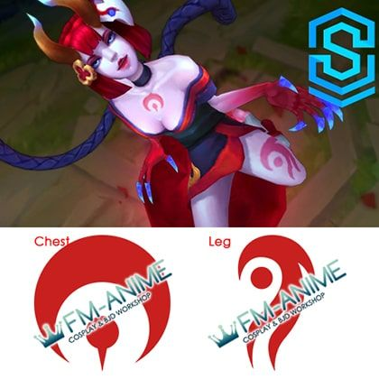 League of Legends Evelynn Blood Moon Skin Cosplay Temporary Tattoo Stickers