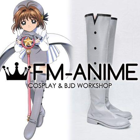 Cardcaptor Sakura Sakura Kinomoto Grey Star Costume Settei Cosplay Shoes Boots