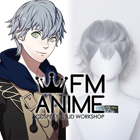 Fire Emblem: Three Houses Ashe Ubert Freckles Gray Cosplay Wig