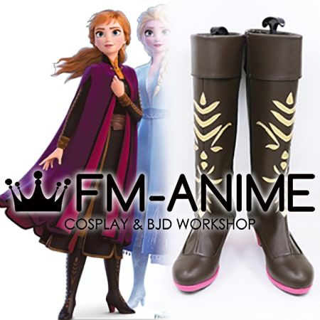 Frozen 2 Anna Cosplay Shoes Boots