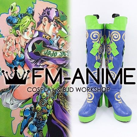 JoJo's Bizarre Adventure Part 6: Stone Ocean Jolyne Cujoh Manga Cosplay Shoes Boots