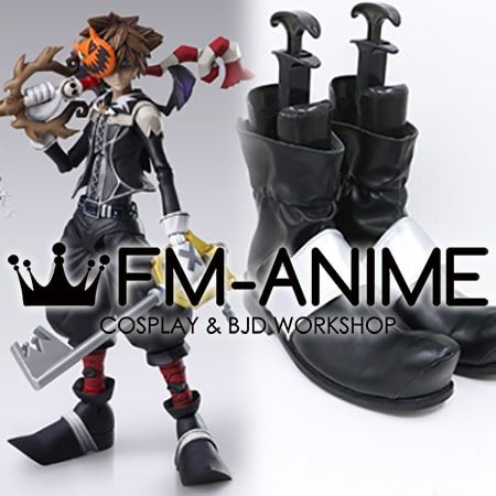 Kingdom Hearts II Sora Bring Arts Halloween Town ver. Cosplay Shoes Boots
