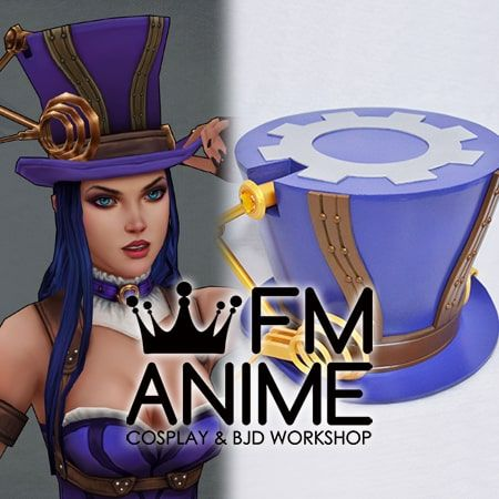 League of Legends Caitlyn Hat Cosplay Accessory Prop