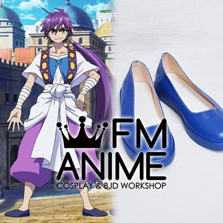 Magi: Adventures of Sinbad Sinbad Cosplay Shoes