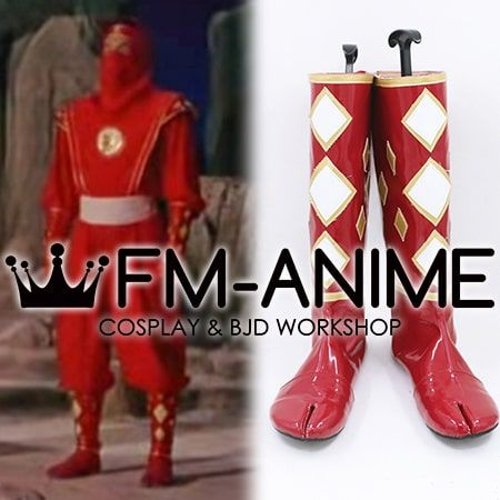 Super Sentai Series Mighty Morphin Power Rangers Red Ninjetti Ninja Ranger Cosplay Shoes Boots