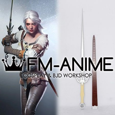 The Witcher 3: Wild Hunt Cirilla Ciri Cosplay Sword Porp Accessory