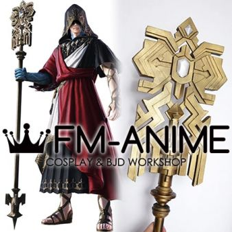 Final Fantasy XIV G'raha Tia Crystal Exarch Cosplay Staff Weapon Prop