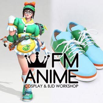 Overwatch Mei Honeydew Skin Cosplay Shoes
