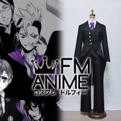 Black Butler Cheslock Purple Weston College School Uniform Cosplay Costume