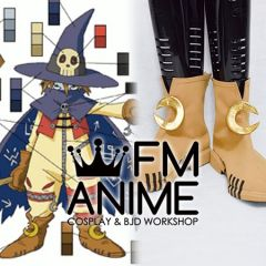 Digimon Wizardmon Cosplay Shoes Boots