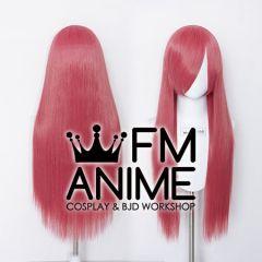 80cm Medium Length Straight Apple Red Cosplay Wig
