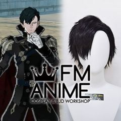 Fire Emblem: Three Houses Hubert After 5 Year Time Skip Black Cosplay Wig