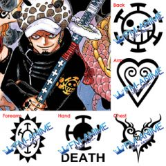 One Piece Trafalgar Law 2 Years Later Cosplay Tattoo Stickers