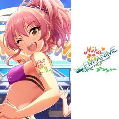 The iDOLM@STER Cinderella Girls Starlight Stage Mika Jougasaki SUN♡FLOWER Cosplay Tattoo Stickers