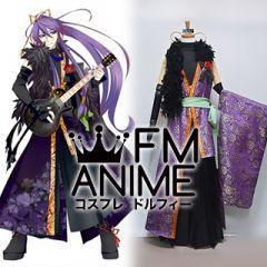 Vocaloid Gackpoid Fleeting Moon Flower Kimono Cosplay Costume (Version 2)