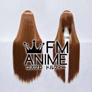 100cm Medium Length Straight Brown Cosplay Wig