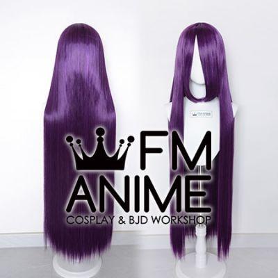 100cm Medium Length Straight Mixed Purple Cosplay Wig