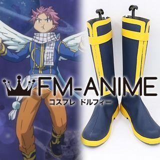 Fairy Tail Natsu Dragneel Oracion Seis arc Cosplay Shoes Boots