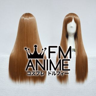 60cm Straight Light Chestnut Brown Cosplay Wig