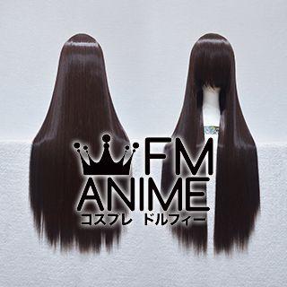 80cm Medium Length Straight Black Mixed Brown Cosplay Wig