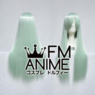 80cm Medium Length Straight Light Bluish Green Cosplay Wig