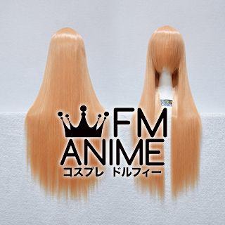80cm Medium Length Straight Peach Cosplay Wig