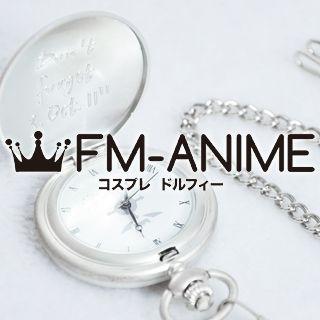 Fullmetal Alchemist Edward Elric Silver Pocket Watch Cosplay Accessory Prop