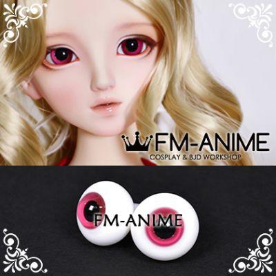 16mm Wine Red & Black Pupil BJD Dolls Glass Eyes Eyeballs Accessories