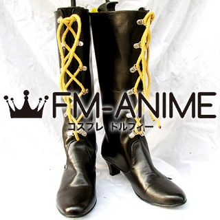 Higurashi When They Cry Rena Ryugu Cosplay Shoes Boots (Dark Brown)