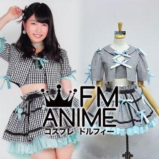 AKB48 Everyday, Katyusha (Everyday, カチューシャ) Blue Black & White Square Cosplay Costume