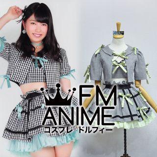 AKB48 Everyday, Katyusha (Everyday, カチューシャ) Green Black & White Square Cosplay Costume