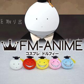 Assassination Classroom Koro-sensei Face Plush Doll Key Chain Cosplay