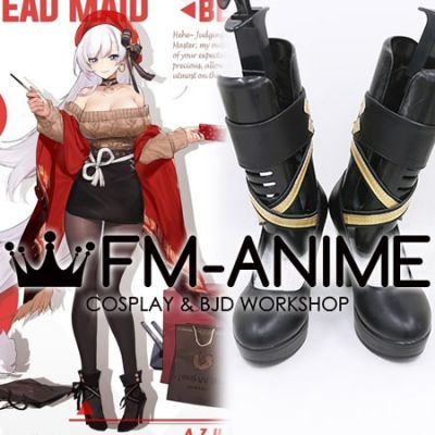 Azur Lane Belfast Shopping with the Head Maid Cosplay Shoes Boots