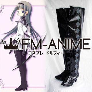 Puella Magi Madoka Magica Akemi Homura Cosplay Shoes Boots