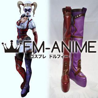 DC Comics Batman: Arkham Asylum Harleen Quinzel Cosplay Shoes Boots