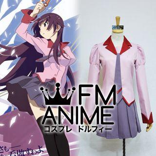 Bakemonogatari (series) Hitagi Senjogahara Uniform Cosplay Costume