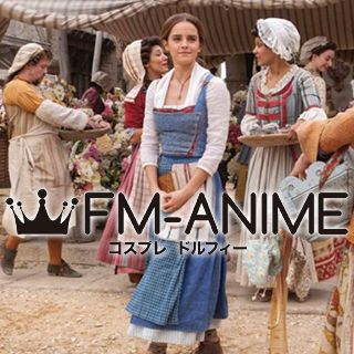 Beauty and the Beast Disney 2017 Live Movie Belle Peasant Cosplay Costume