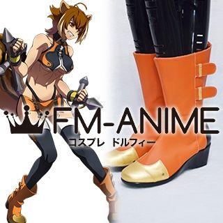 BlazBlue Makoto Nanaya Cosplay Shoes Boots (Foot length 26cm)