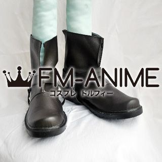 Fullmetal Alchemist Edward Elric Cosplay Shoes Boots (Dark Brown)